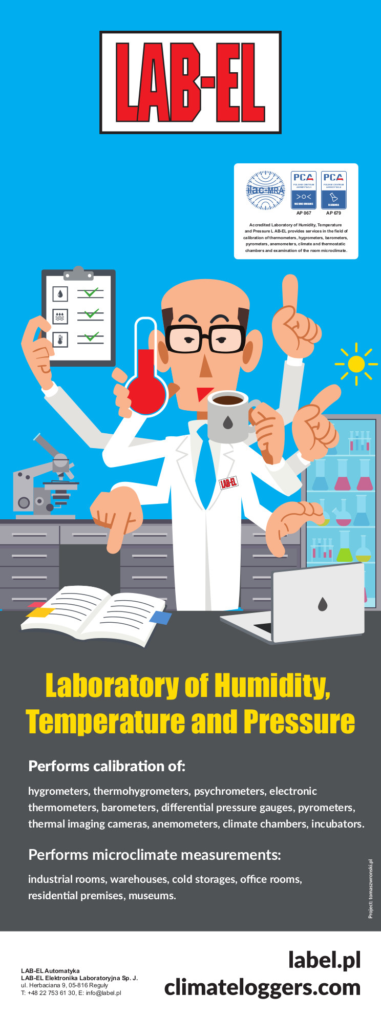 Laboratory of Humidity, Temperature and Pressure