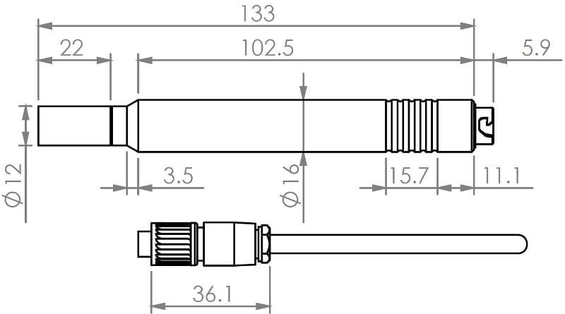 Konstrukcja Termohigrometr Barani MeteoTemp