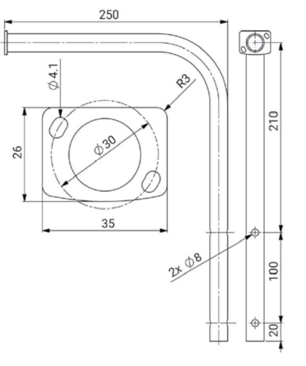 Uchwyt wiatromierza Barani Design MeteoWind 2