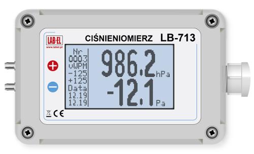 Ciśnieniomierz różnicowy LB-713