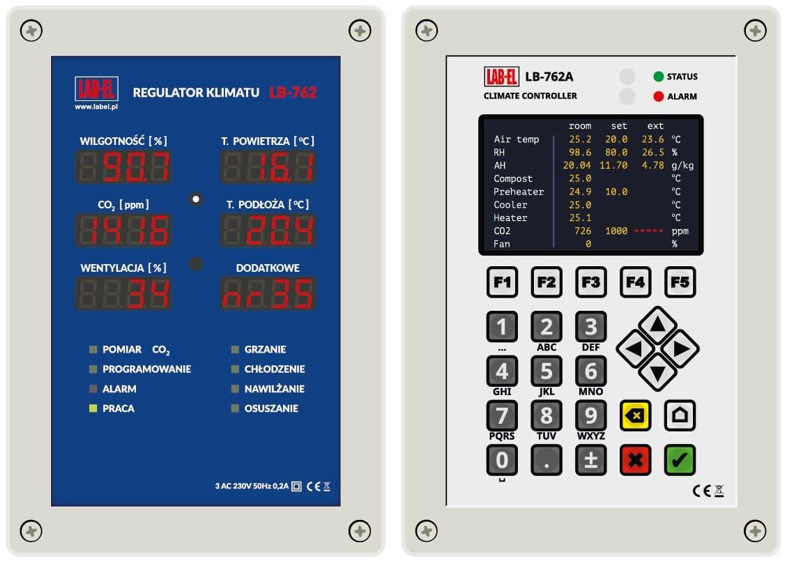 Sterowniki do pieczarkarni LB-762 i LB-762A