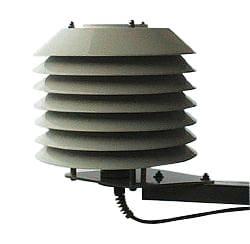 Termohigrometr zewnętrzny oraz klatka meteorologiczna