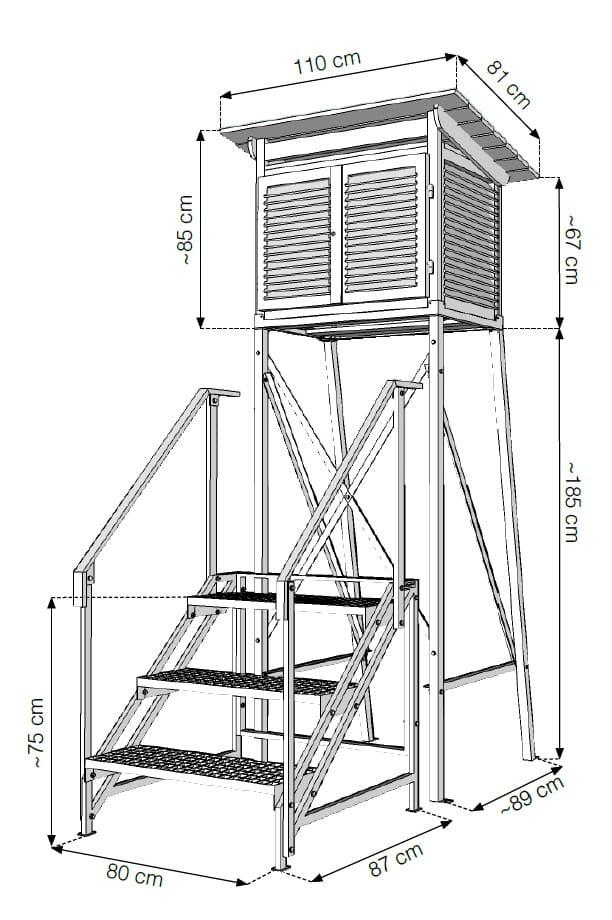 Klatka meteorologiczna Stevensona - wymiary