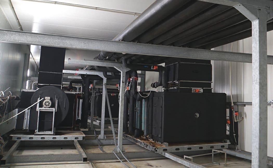 Centrale klimatyzacyjne i instalacje w pieczarkarni