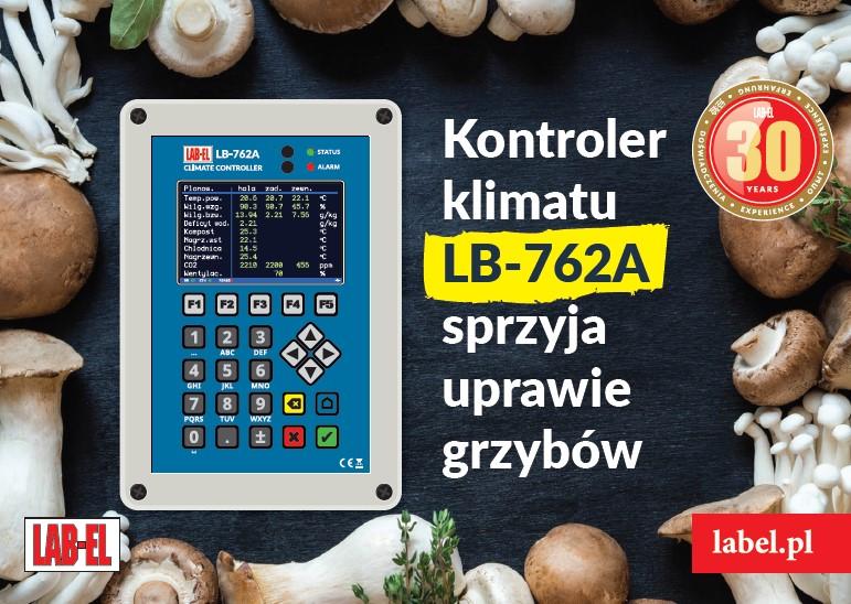 Nowy kontroler klimatu do pieczarkarni LB-762A