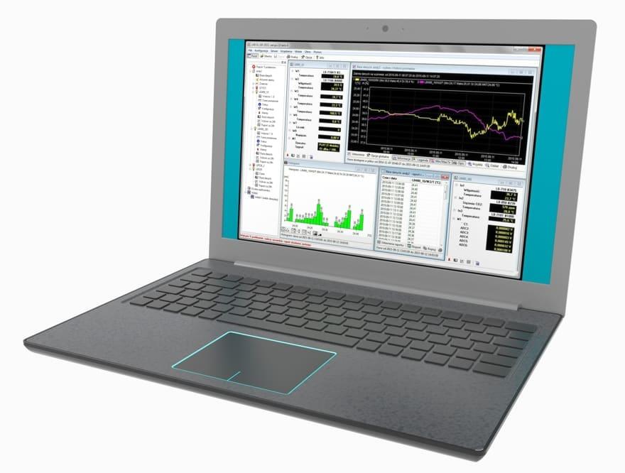 Program SCADA LBX - monitoring temperatury i wilgotności