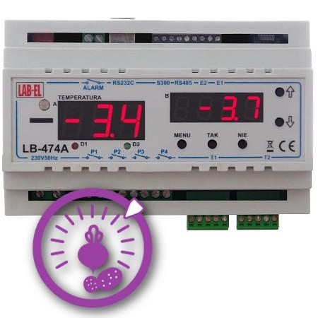Regulator temperatury i wilgotności, psychrometr LB-474A3