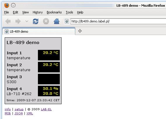 Termometr z ethernetem: podgląd danych w przeglądarce WWW