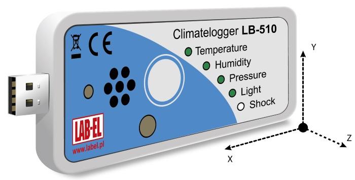 LB-510A - pomiar wstrząsu / przyspieszenia