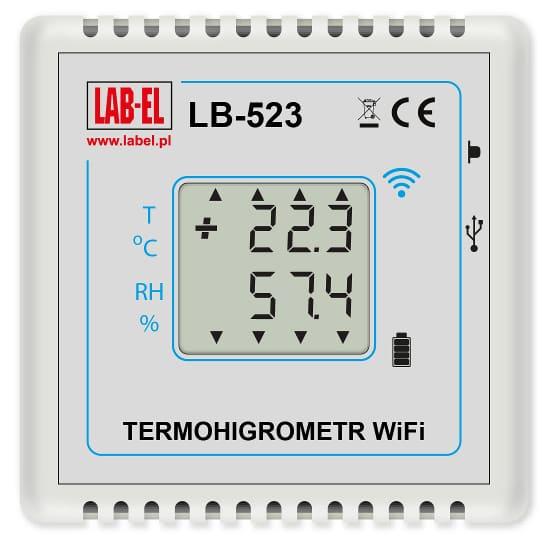 Bezprzewodowy termohigrometr LB-523 WiFi, bezprzewodowy rejestrator