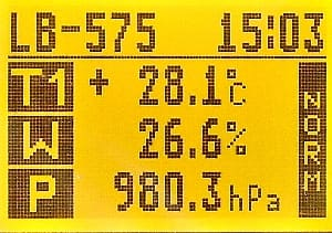 LB-575 LCD Temperatura, Wilgotność, Ciśnienie