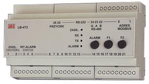 Koncentrator LB-473 - termometry, higrometry, barometry - alarmowanie