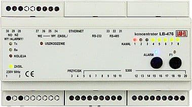rejestrator temperatury i wilgotności, koncentrator ethernet LB-476