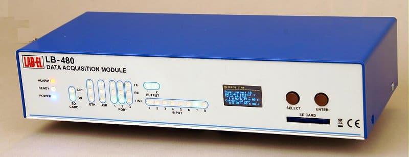 LB-480 Rejestrator danych - widok z przodu