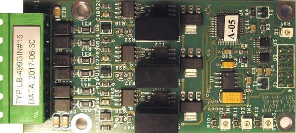 Moduł 3 dodatkowych izolowanych galwanicznie wejść S300 LB-499-GIN