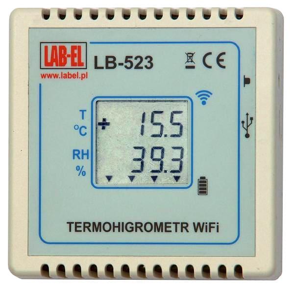 Bezprzewodowy termohigrometr LB-523 WiFi, bezprzewodowy rejestrator WiFi