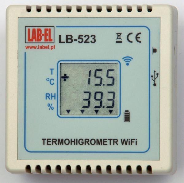 Termohigrometr LB-523 WiFi – rejestrator temperatury i wilgotności z bezprzewodową transmisją danych w sieci WiFi