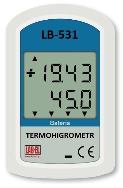 Bateryjny miernik temperatury, wilgotności, ciśnienia i światła LB-531