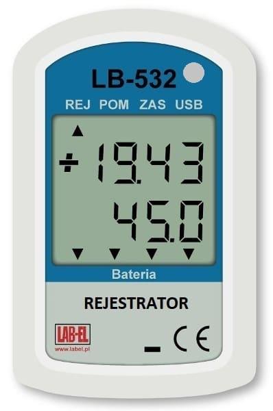 Rejestrator temperatury, wilgotności, ciśnienia i światła LB-532