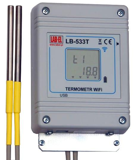 Bezprzewodowy termometr i rejestrator czterech temperatur oraz otwarcia drzwi LB-533T