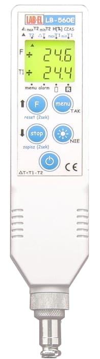Przenośny termometr higrometr LB-560E z pamięcią i alarmem