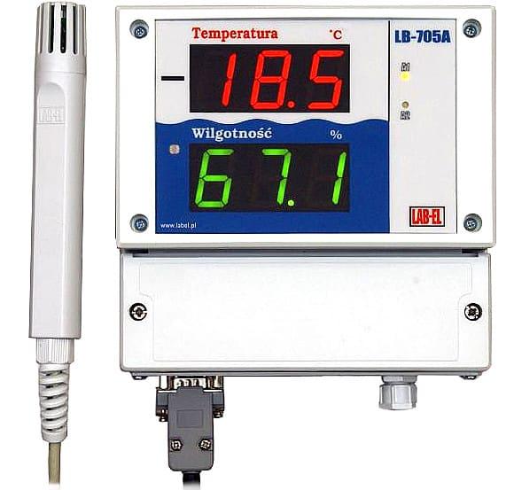 Termohigrometr (wilgotnościomierz i termometr)  LB-701 z panelem odczytowym LB-705