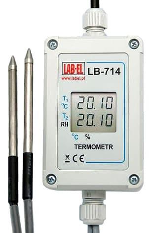 Termometr z sondą psychrometr LB-710ATF