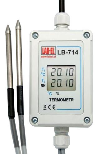 Termometr z sondą LB-714, psychrometr LB-714P