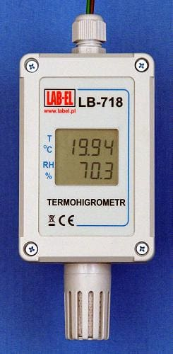 Dokładny termohigrometr 0,01°C MODBUS RTU LB-718