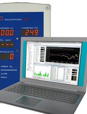 Program LBX dla PC sterujący pracą regulatorów LB-762