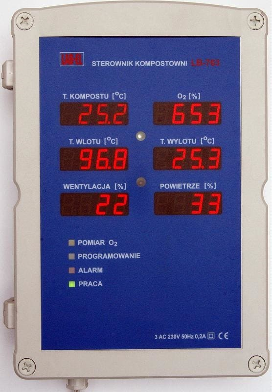 Sterownik kompostowni - regulator LB-763