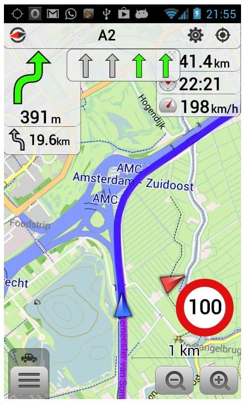 Mapa z nawigacją na urządzenia mobilne ANDROID