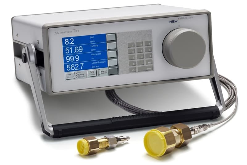 Analizator gazu MBW 973-SF6 z chłodzonym lustrem