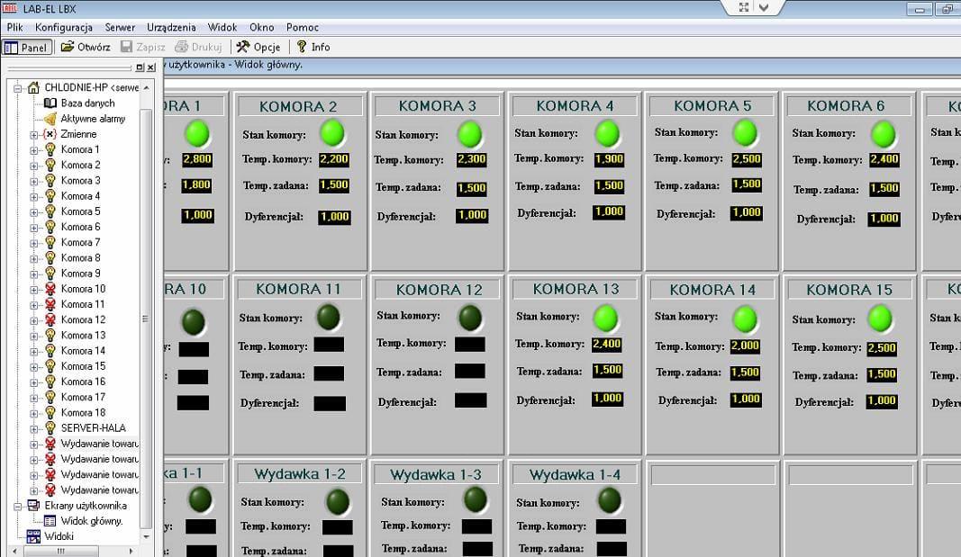 Wizualizacja sterowników Danfoss w programie LBX