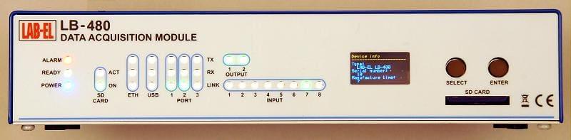 Koncentrator LB-480 - rejestrator danych z transmisją danych przez Ethernet ,GSM, SMS.