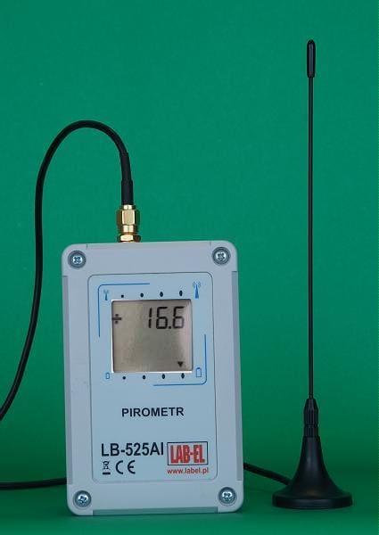 Pirometr rejestrator tempeartury LB-525AI SMA - z zewnętrzną anteną z kablem