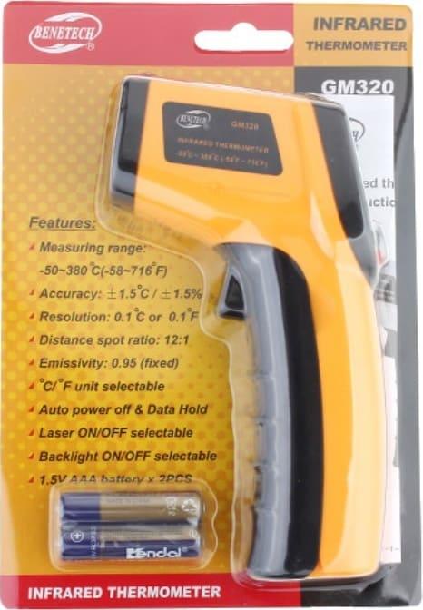 Pirometr ręczny bateryjny tani GM320
