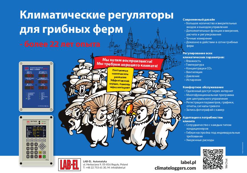 Manifestacja pieczarek - plakat po rosyjsku