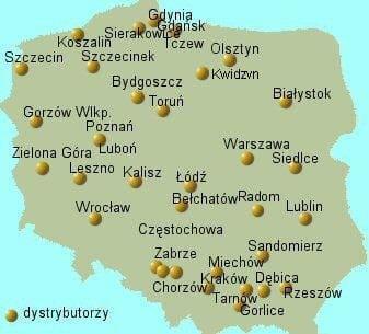 dystrybutorzy mapa