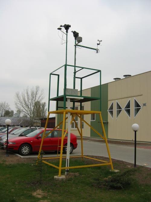 Stacja meteo na SGGW, czujniki meteorologiczne LAB-EL