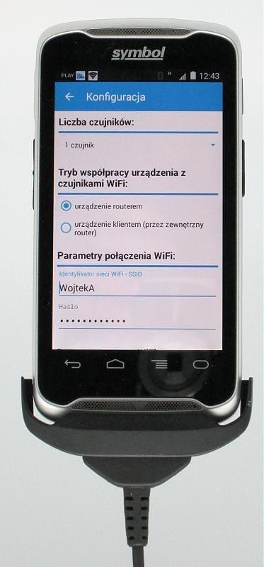 Aplikacja TRANS-LOGGER na terminalu TC55 ZEBRA