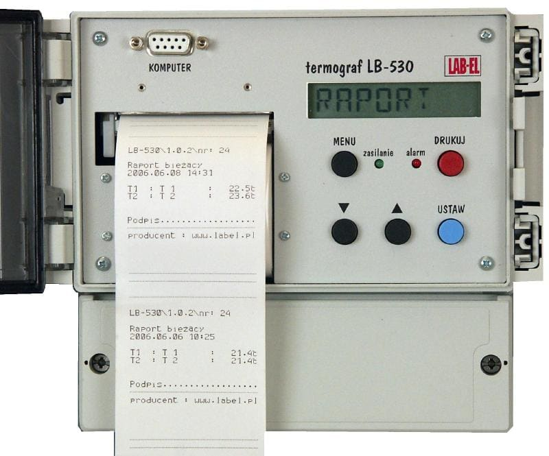 Termometr rejestrator z drukarką LB-530