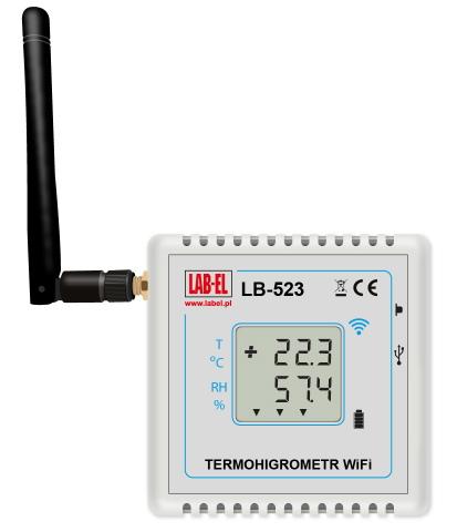 Bezprzewodowy termohigrometr LB-523-SMA WiFi