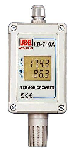 Stałe czasu termohigrometru LB-710A