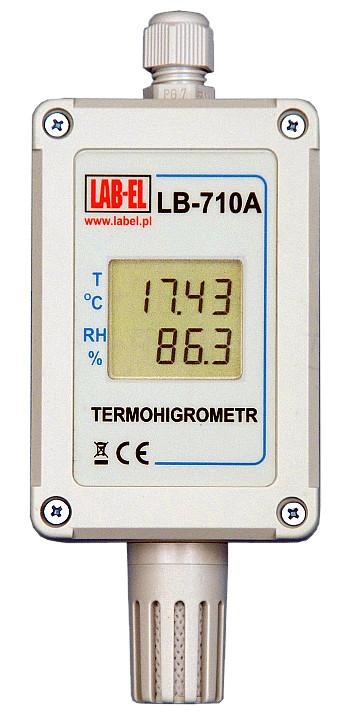 Termometr przemysłowy LB-710A, higrometr przemysłowy