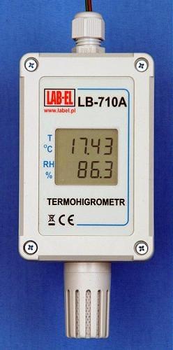 Termohigrometr LB-710A – miernik temperatury i wilgotności z przewodową transmisją danych.