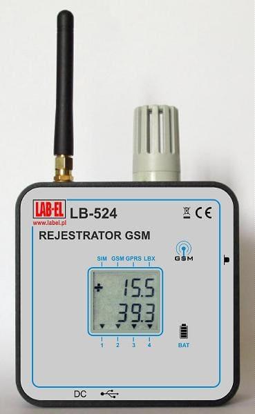 Bezprzewodowy termometr higrometr LB-524 GSM, bezprzewodowy rejestrator GSM