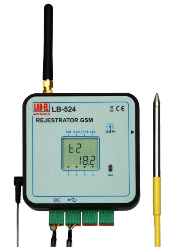 Bezprzewodowy termohigrometr LB-523 GSM, bezprzewodowy rejestrator