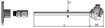 Termometr TP-401, czujnik temperatury do cieczy