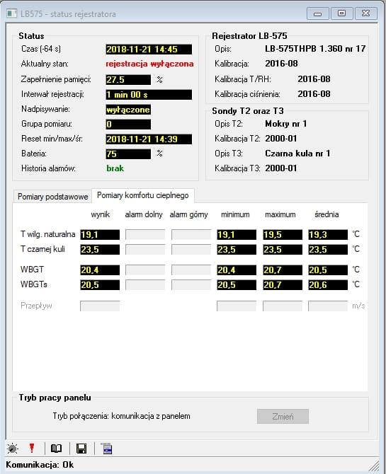 WBGT WBGTS oprogramowanie
